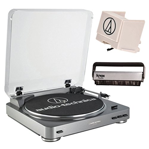 Audio Technica AT-LP60USB Turntable w/ Additional ATN3600L Replacement Stylus & Knox Carbon Fiber Vinyl Brush