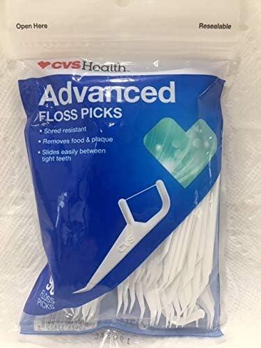 CVS Health Advanced Floss Picks, 90CT