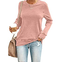 Asvivid Women Sweatshirts Casual Cowl Neck Long Sleeve Solid Slim Pullover Jumper Tops