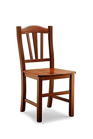 Lo Scrigno Arredamenti, 2 sillas de Madera clásico Sillas Cocina ...