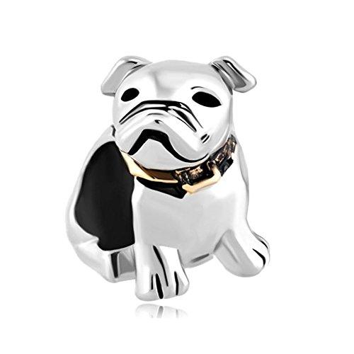 (Sterling Silver Dog Beagle Pet Germany Bulldog Animal Charms)