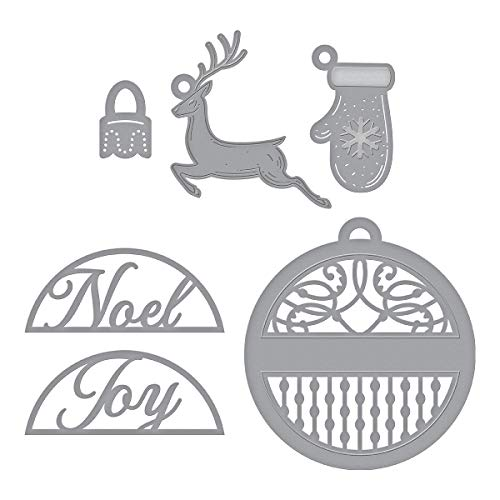 (Spellbinders S4-962 Shapeabilities Charming Round Tag Etched/Wafer Thin Dies, Metal)