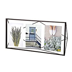 Umbra Prisma Multi Picture Frame - Photo Display for Desk or Wall, Black
