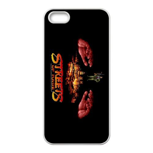 Streets Of Rage2 coque iPhone 5 5s cellulaire cas coque de téléphone cas blanche couverture de téléphone portable EEECBCAAN04715