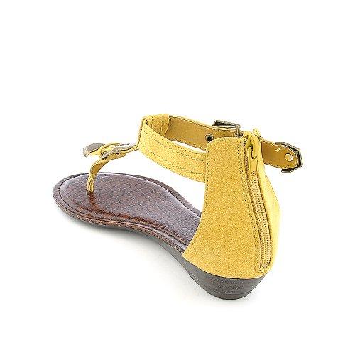 Bamboo Womens Latte-22 Sandal Mustard GDxwFX5wV