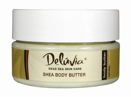 Delúvia Shea Body Butter 8 Ounce Aloe Vera Body Lotion, Hand Lotion, Moisturizer, After Sun Care, Anti-Aging, Healing Lotion for Psoriasis, Eczema, Sunburn, Rashes, Bug Bites. For All Skin Types.