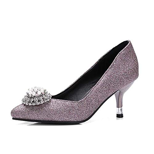 Spring Poliuretano Stiletto de del Heel ZHZNVX Dedo Heels PU Black Negro Rosa pie Cerrado Mujer Zapatos púrpura del Comfort 5w8XgXIqf