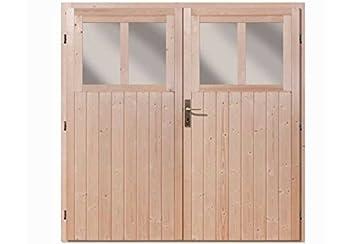 Karibu Doppeltür für Gartenhaus Wandlitz und Bomlitz natur: Amazon