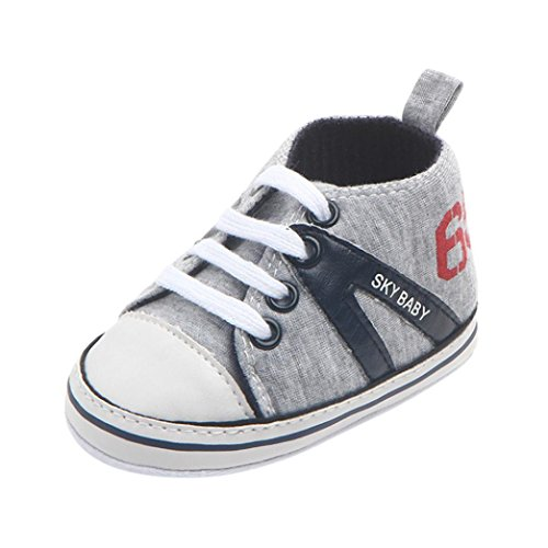 voberry Toddler Baby Boys Girls Anti-Skid Basic Canvas Sneaker (3~6 Month, Dark Blue 2)