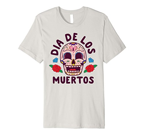 Mens Day Of The Dead Halloween Costume Dia de los Muertos T-Shirt Large Silver - Day Of The Dead Halloween Costumes Diy