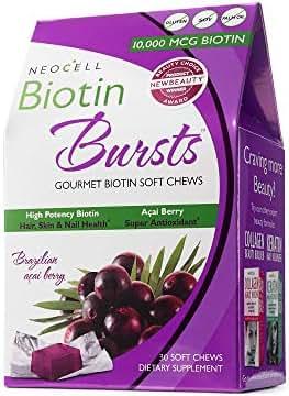 NeoCell - Biotin Burst - Brazilian Acai Berry - 30 Chews (Packaging May Vary)