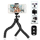 Photo : Phone Tripod, SIX-QU 8.3in Adjustable and Flexible Phone Stand Holder with Wireless Remote Shutter and Universal Clip Compatible with iPhone, Android Phone, Camera and Gopro