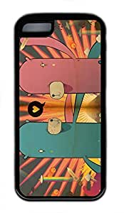 iPhone 5c case, Cute Monster Love iPhone 5c Cover, iPhone 5c Cases, Soft Black iPhone 5c Covers