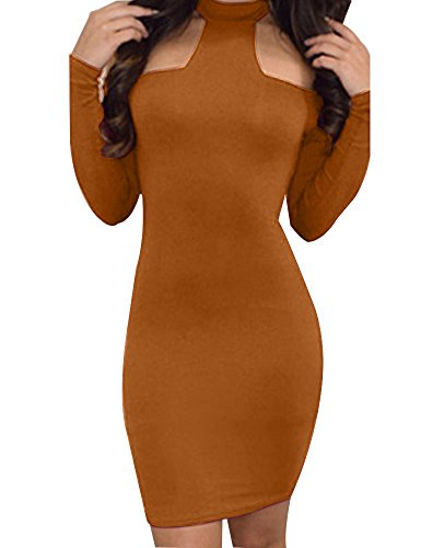 Ginger Club Party Sexy Long Bodycon Bandage Off Allegrace Womens Sleeve Shoulder Dresses wfqSS6