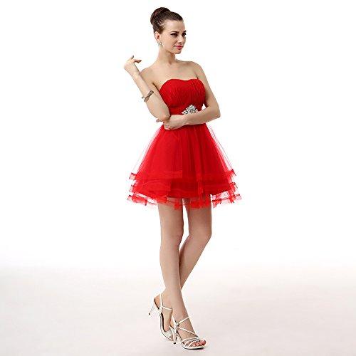 Spalline Di Besswedding Breve Di Abito Tulle Senza Pietra Promenade Ritorno Casa Rosso A Reno Femminile B0SSw45qxr