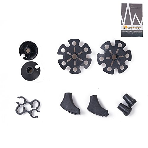 Trekking Pole Accessory - Trekking Pole Replacement Accessories Sets for Climbing Trekking Hiking by WEANAS (Full Set)