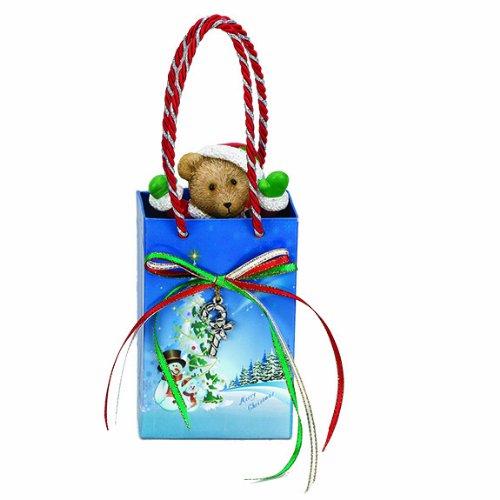 Mr. Christmas Musical Gift Bag, Teddy (Adorned Teddy Bear Charm)