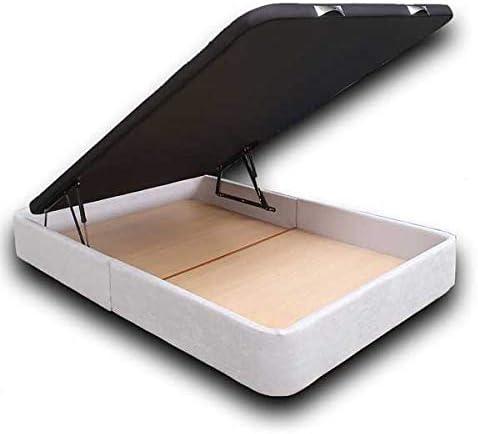 Ventadecolchones - Canapé Abatible Serena Gran Capacidad Tapizado en Tela Antimanchas Essence Gris Perla Medidas 120 x 200 cm en Tejido 3D