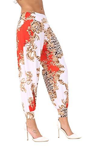 Paisely THREADWEAR Harem Pantaloni Donna Red 5wqqIrS