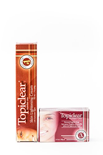 (TopiClear NumberOne Skin Lightening Cream & Soap DUO Bundle + FREE Tube Squeezer)