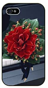 Red flower on piano - iPhone 5C black plastic case / Flowers and Nature, floral, flower