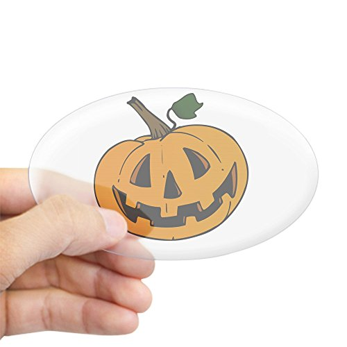 CafePress Pumpkin Oval Sticker Oval Bumper Sticker, Euro Oval Car Decal -