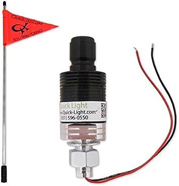 482200 Heavy Duty Pole ONLY Quick Light Fiber Optic Whip 4ft
