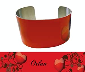 Personalized cuff bracelet with text Orlan (first name/surname/nickname)