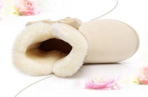 Bumud Scarpe Da Donna Invernali In Pelle Scamosciata Con Cinturino Alla Caviglia