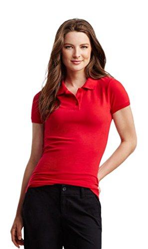 Aeropostale Women's Solid Uniform Pique Polo Medium Red (Classic Solid Pique Polo)