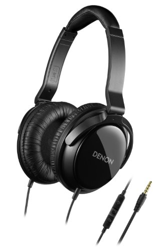 Denon AH-D310R Mobile Elite Over-Ear Headphones with 3 Button Remote and Mic (Black) (Discontinued by Manufacturer) (Denon On Ear Headphones)