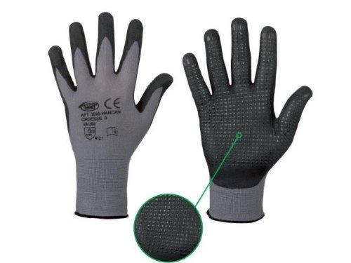 Handschuh HANDAN genoppt nahtlos EN388 flexibel griffig Arbeitshandschuh Noppen (7)