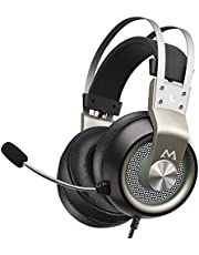 Mpow EG3 Pro Gaming Headset, 3D Bass Surround Sound for PS5 PS4 Xbox Computer Headset with Noise Cancelling Mic, Over Ear Gaming Headphones, Volume Control for PC Laptop Mac Nintendo Switch