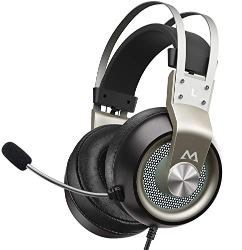 Mpow PS4 Headset Xbox One – EG3 Pro Gaming Headset Stereo Surround Sound with Noise Cancellation Mic & In-Line Control…