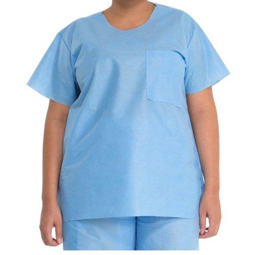 Halyard Health 69703 Scrub Shirt, 3-Layer SMS Fabric, X-Large, Blue (Case of 48) by Halyard Health