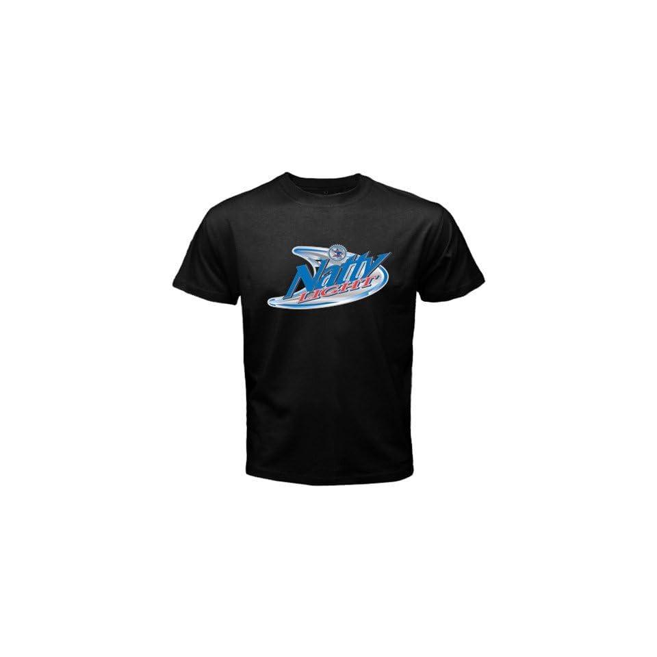 Natural Natty Light Beer Logo New Black T shirt Size S