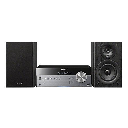 Sony CMT-SBT100B Micro-HiFi-systeem (DAB/DAB+, 50 Watt, CD-/CD-RW-speler, FM/AM, Bluetooth, NFC, USB), zilver/zwart…