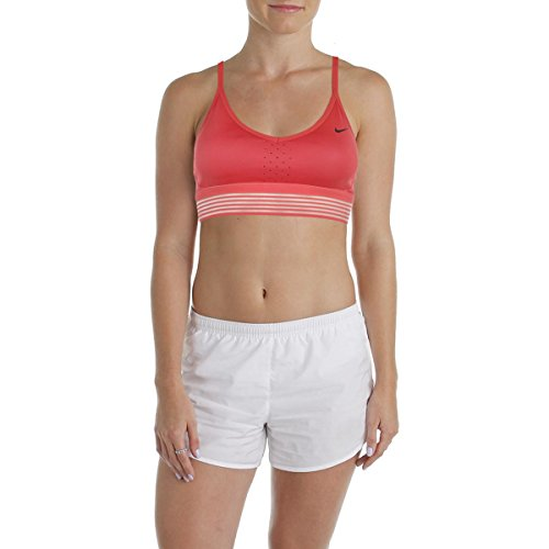 Nike Womens Mesh Trim Light Support Sports Bra Pink XS