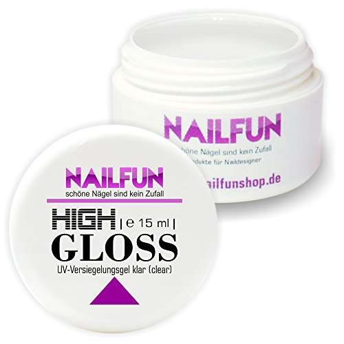 Nailfun 15 ml High Gloss UV Versiegelungsgel (Finish) dünnfliessend, 1er Pack (1 x 15 ml)