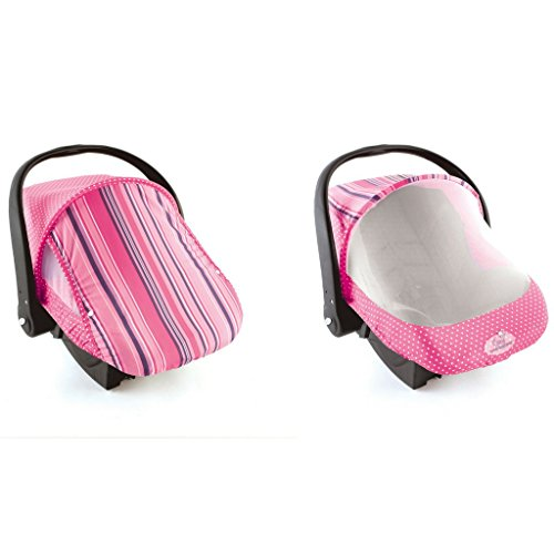 Bug Style Car (Cozy Cover Sun & Bug Cover (Pink Stripe) - The Industry Leading Infant Carrier Cover Trusted By Over 2 Million Moms Worldwide For Protecting Your Baby From Mosquitos, Insects and the Sun)