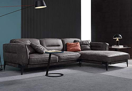 Maloroy Faux Leather Left or Right Hand Chaise Sectional Set with Ottoman, Espresso