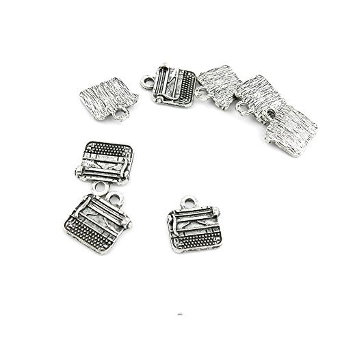 Vintage Typewriter Repair (10pcs Silver Tone Silvertone Jewelry Making Retro Repair Vintage Charms Findings Pendant Ancient QJ072 Typewriter Typer)