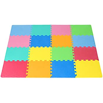 Amazon Com Prosource Puzzle Solid Foam Play Mat For Kids