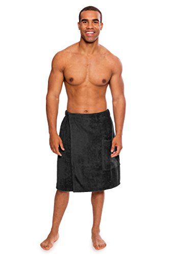 - Texere Men's Terry Cloth Spa Wrap (Forestcalm, Dark Shadow, L/XL)
