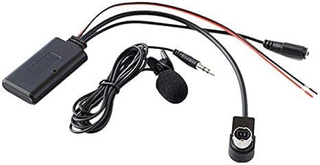 Vaorwne Adaptador AUX para Coche Audio InaláMbrico Llamada TelefóNica MicróFono Manos Libres para KCA-121B AI-Net CDA-9857 CDA-9886