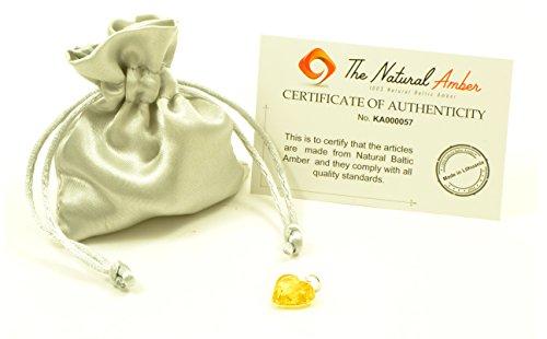 Genuine Baltic Amber Heart Pendant, Hand Made from Genuine Baltic Amber, Pendant for Necklace