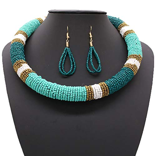 HENGYID African Necklace, Zulu Necklace, Maasai Beaded for sale  Delivered anywhere in USA