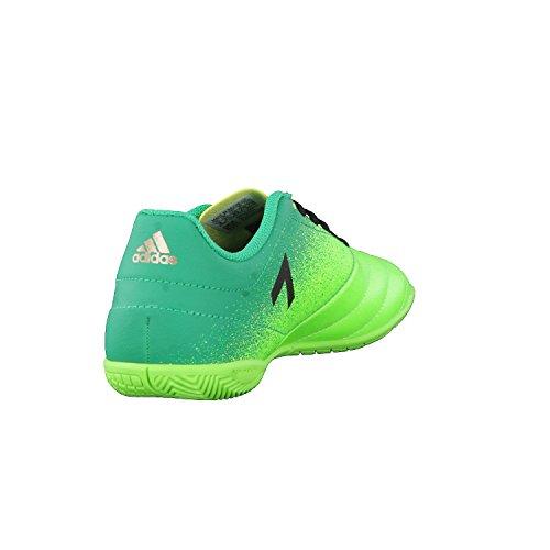 Adidas Ace 17.4 In J, pour les Chaussures de Formation de Football Mixte Enfant, Vert (Versol/Negbas/Verbas), 33 EU