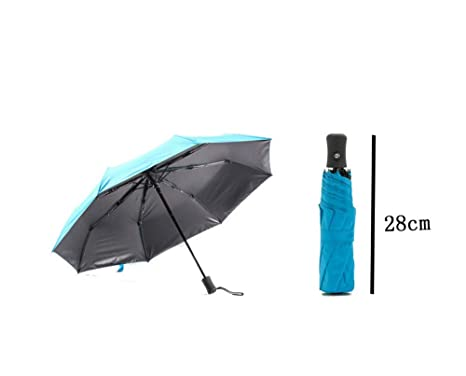 DYEWD Paraguas de plástico Negro/Paraguas automático/Cambio ...