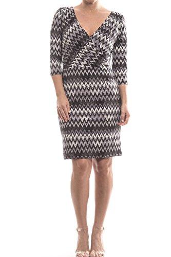 Joseph Ribkoff Silky Knit Zig-Zag Pattern Dress Style 174688 Size 10